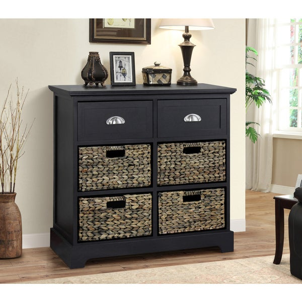 Shop Gallerie Decor Newport 2 Drawer 4 Basket Table Free
