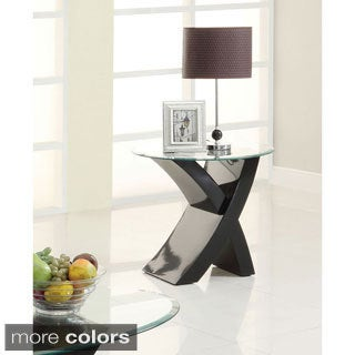 Furniture of America Cass Modern X-Base End Table