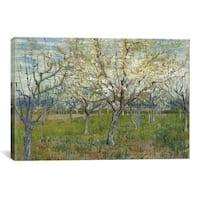 iCanvas Vincent van Gogh The Pink Orchard Canvas Print Wall Art