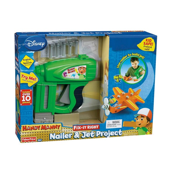 Handy Manny Construction Nailer and Fix It Jet