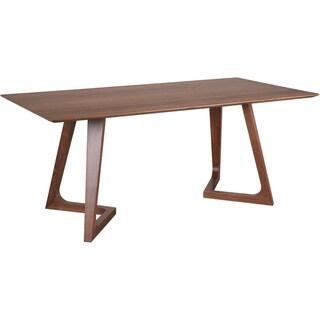 """Aurelle Home Gideon Solid Walnut Modern Rectangular Kitchen Table - 29.5"""" x 71"""" x 35"""""""