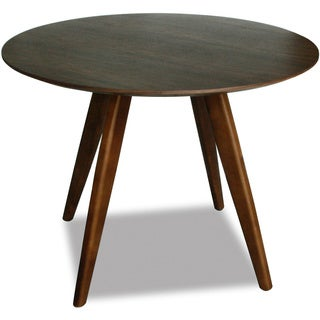 Aurelle Home Sole Round Walnut Mid-century Style Dining Table