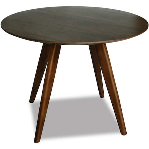 Aurelle Home Round Walnut Mid-century Style Dining Table - Brown