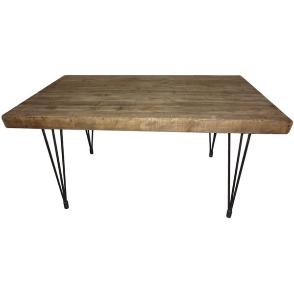 Aurelle Home Natural Rustic Dining Table