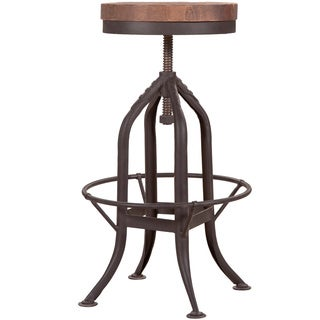 Aurelle Home Rustic Antique Vega Brown Bar Stool