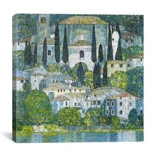 iCanvas Gustav Klimt Kirche in Cassone (Chruch in Cassone) Canvas Print Wall Art
