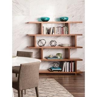 Aurelle Home Kamma Large Modern White Storage Bookshelf