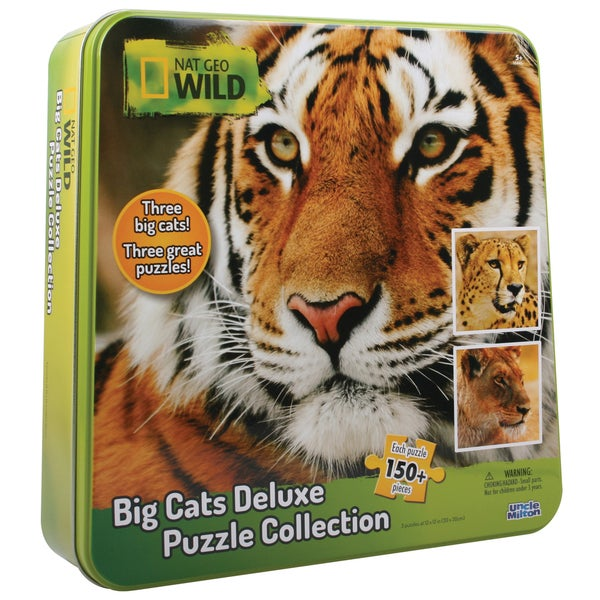 Nat Geo Wild Big Cats Deluxe Puzzle Collection