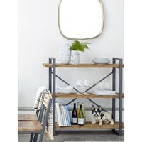 Aurelle Home Industrial and Rustic Farmhouse Metal 3-tiered bookcase