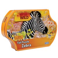 Uncle Milton Nat Geo Wild Foil Puzzle with Tin Zebra