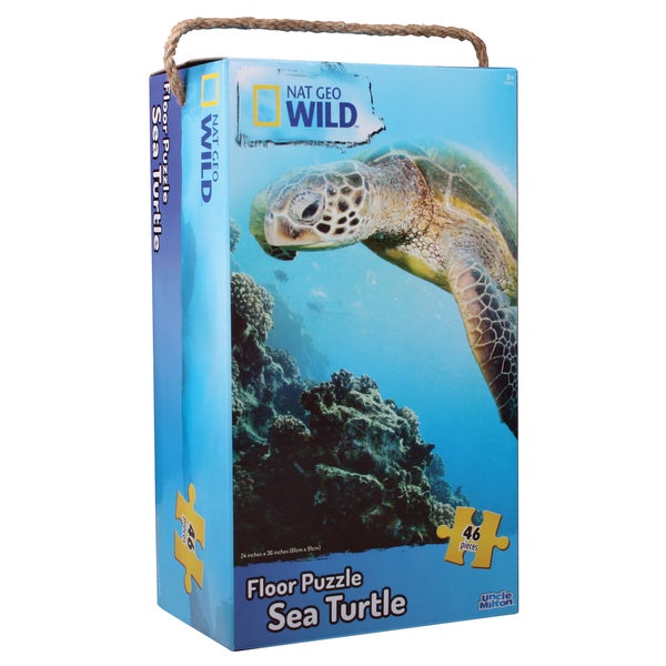 Uncle Milton Nat Geo Wild Turtle Floor Puzzle