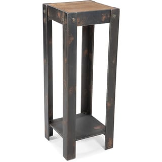 Aurelle Home Industrial Natural Plant Stand