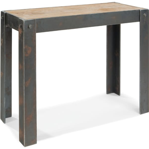 Aurelle Home Rustic Industrial Natural Console Table