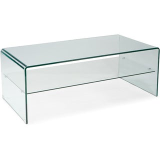 Discovery Clear Glass Coffee Table Free Shipping Today