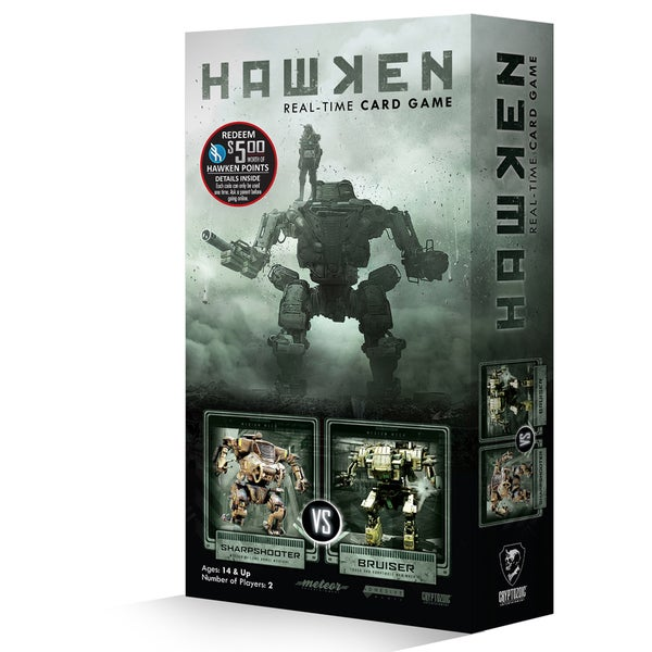 Cryptozoic Hawken Real-Time Card Game