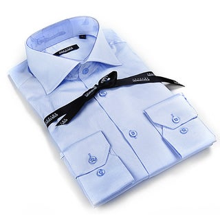 Georges Rech Men's Light Blue Button Down Dress Shirt