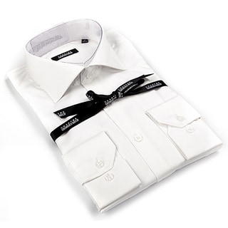 Georges Rech Men's White Button-down Dress Shirt