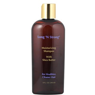 Long 'N Strong Moisturizing 8-ounce Shampoo with Shea Butter for Ethnic Hair