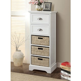 Gallerie Decor Newport 2-drawer 3-basket Table