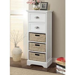 Gallerie Decor Newport 2-drawer 3-basket Table (2 options available)