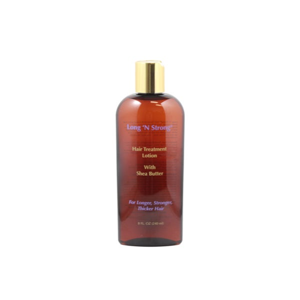 Long 'N Strong Treatment 8-ounce Lotion with Shea Butter for Ethnic Hair - Clear