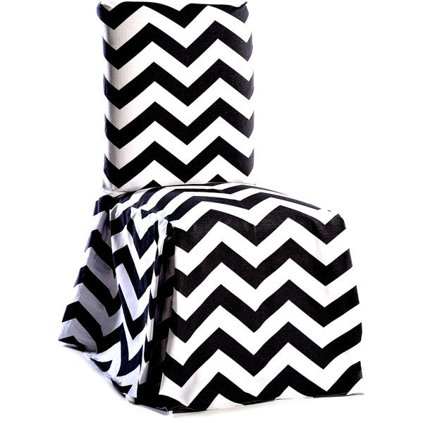 Chevron Cotton Dining Chair Slipcover Pair. Opens flyout.