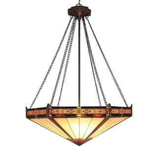 Filigree 3-light Aged Bronze Pendant