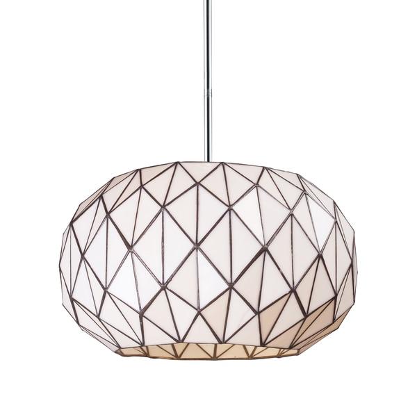 Elk Lighting Tetra 3-light Chrome and Geometric Glass Pendant