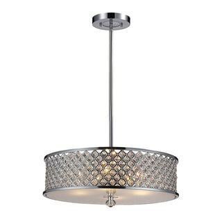 Genevieve 4-light Polished Chrome and Crystal Pendant