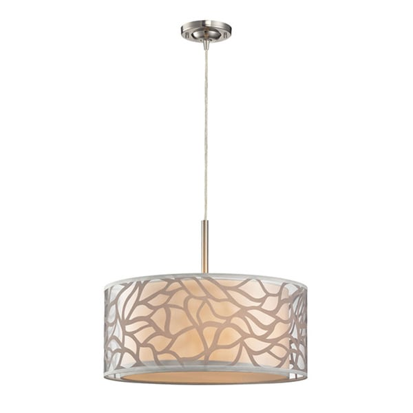 be0d967c8ba Shop Elk Lighting Autumn Breeze 3-light Off-white Pendant - On Sale - Free  Shipping Today - Overstock - 9499291