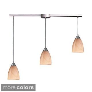 Elk Lighting Pierra 3-light Satin Nickel Pendant