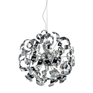 Odyssey Polished Chrome and Crystal 13-light Pendant