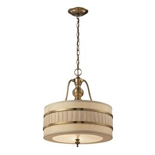 Elk Lighting Luxembourg 3-light Antique Brass Pendant Fixture
