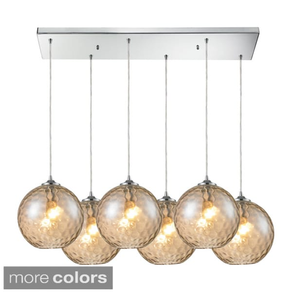 Elk Lighting Watersphere 6-light Polished Chrome Pendant