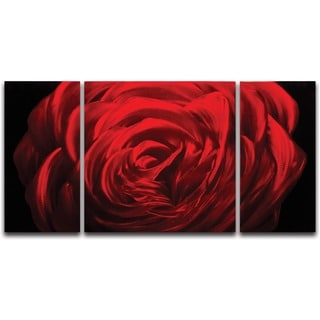 Midnight Rose' Metal Wall Art