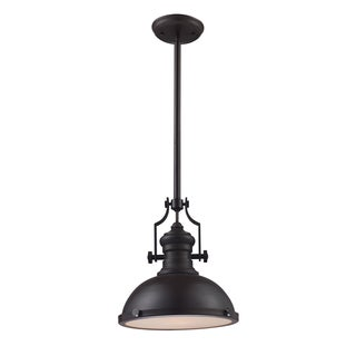 Chadwick Single-light Medium Oiled Bronze Pendant
