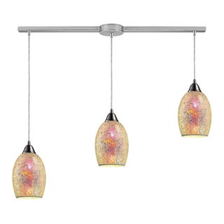Elk Lighting Avalon 3-light Satin Nickel Linear Pendant