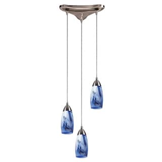 Elk Lighting Milan 3-light Satin Nickel Pendant