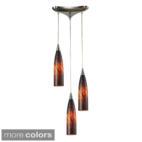 Elk Lighting Lungo 3-light Satin Nickel Pendant