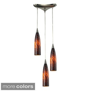 Elk Lighting Lungo 3-light Satin Nickel Pendant