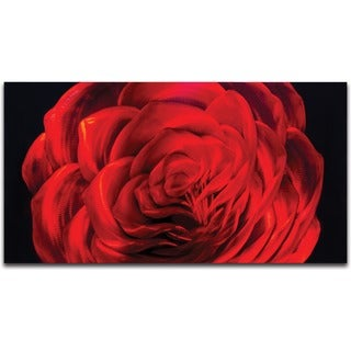 'Midnight Rose' Small Metal Wall Art