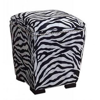 Zebra Storage Ottoman