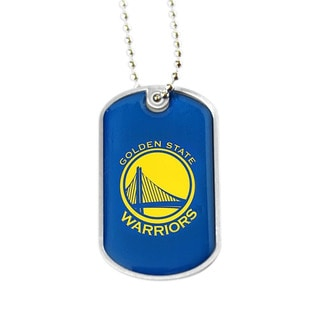 NBA Golden State Warriors Dog Tag Necklace Charm Gift Set