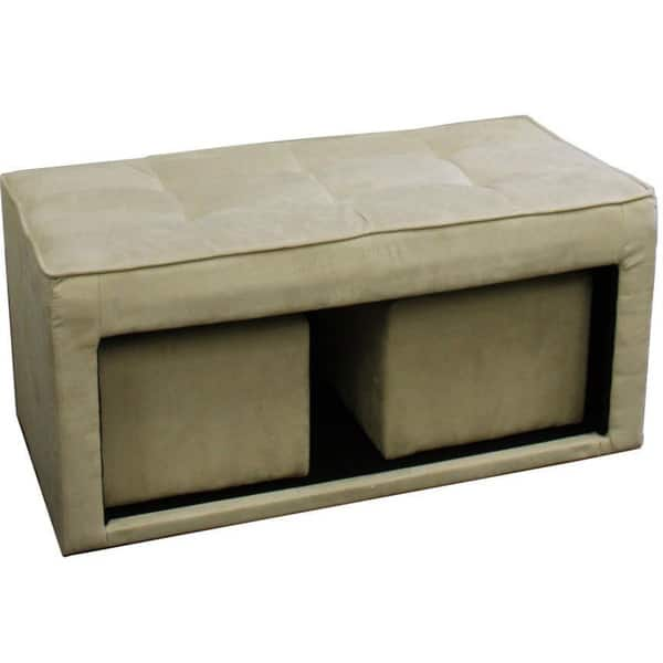 Cool Storage Ottoman And Two 2 Hidden Seats Pabps2019 Chair Design Images Pabps2019Com