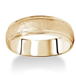 14k Yellow Gold Men's 6mm Hammered Wedding Band https://ak1.ostkcdn.com/images/products/9499582/P16679665.jpg?impolicy=medium
