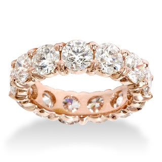 14k Rose Gold 5 5ct TDW Eternity Diamond Anniversary Ring