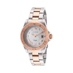 Women's Invicta 14367 Angel Quartz 3 Hand Rose Gold/Stainless Steel/White