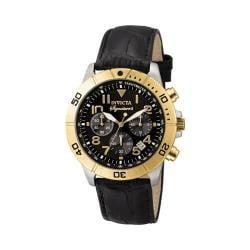 Men's Invicta 7284 Signature Quartz Chronograph Black Leather/Black