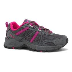 Women's Fila Ascente 12 Trail Shoe Castlerock/Pink Glo/Electric Blue Lemonade