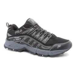 Women's Fila At Peake Black/Black/Metallic Silver